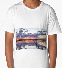 Colouful lake sunset Long T-Shirt