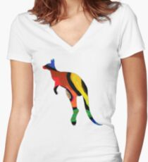 The Hopping Way  Women's Fitted V-Neck T-Shirt
