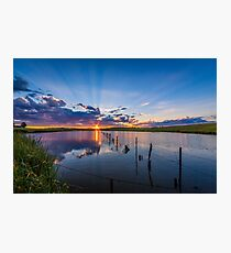 Beautiful sunset reflected over lake Photographic Print