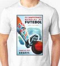 SOCCER: Vintage 1950 Brasil Advertising Print T-Shirt