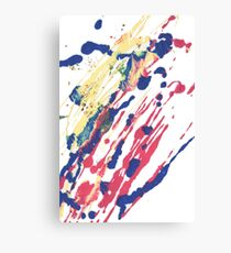 Abstract Red Blue Yellow Canvas Print