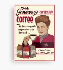 Janeway's Coffee Metal Print