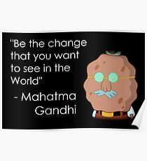 Gandhi - Be the Change Poster