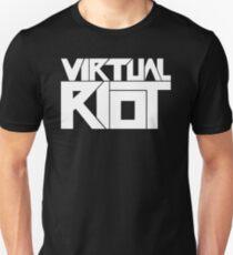 Virtual Riot Logo White Unisex T-Shirt