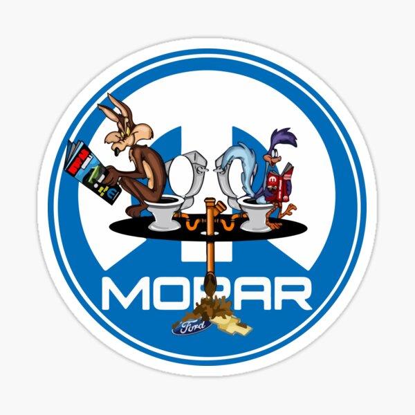 Mopar Cartoon Ford Sticker