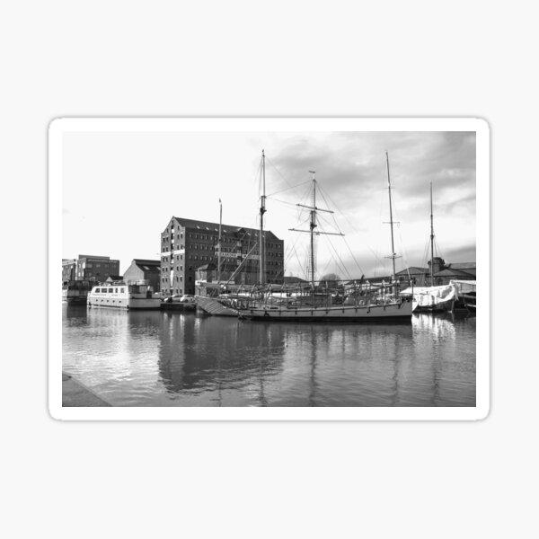 Tall Ship at Gloucester Docks Sticker