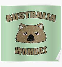 Wombat vintage design - Australian animal  Poster