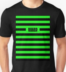 Zombie Punky Green Loud Stripe Logo By BoardZombies Unisex T-Shirt