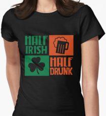Half irish - Half drunk Womens Fitted T-Shirt