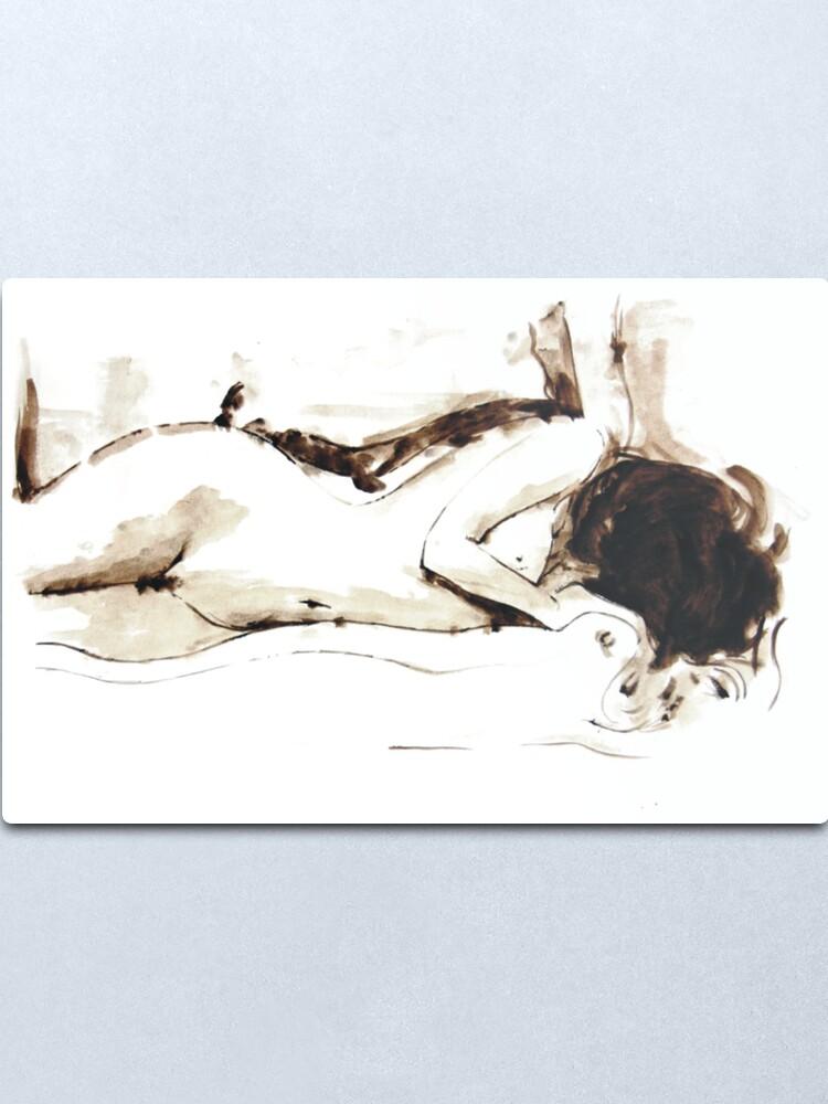 Alternate view of Nude I Metal Print