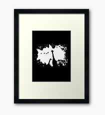 Giraffe Mother and Child Framed Print