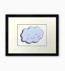 Cloud, Cute, Happy, kids, children, toddlers, child, boy, girl, baby, Framed Print