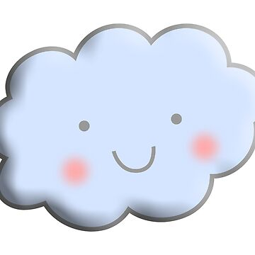Cloud, Cute, Happy, kids, children, toddlers, child, boy, girl, baby, by TOMSREDBUBBLE