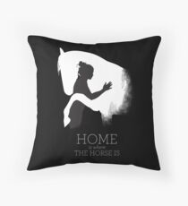 Home is where the Horse is Throw Pillow