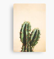 Pixelated cactus pink Canvas Print