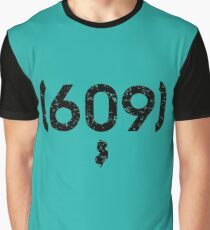Area Code 609 New Jersey Graphic T-Shirt