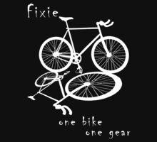 Fixie - one bike one gear (white)