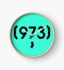 Area Code 973 New Jersey Clock