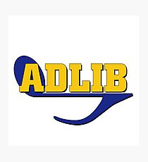 Adlib (musical term) Photographic Print
