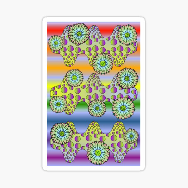 Psychedelic Daisies Sticker