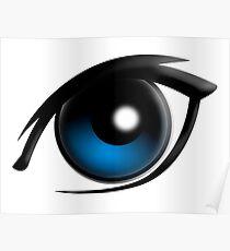 EYE, Blue eyes, Cartoon Poster