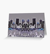 Denver Double Exposure in Purple Greeting Card