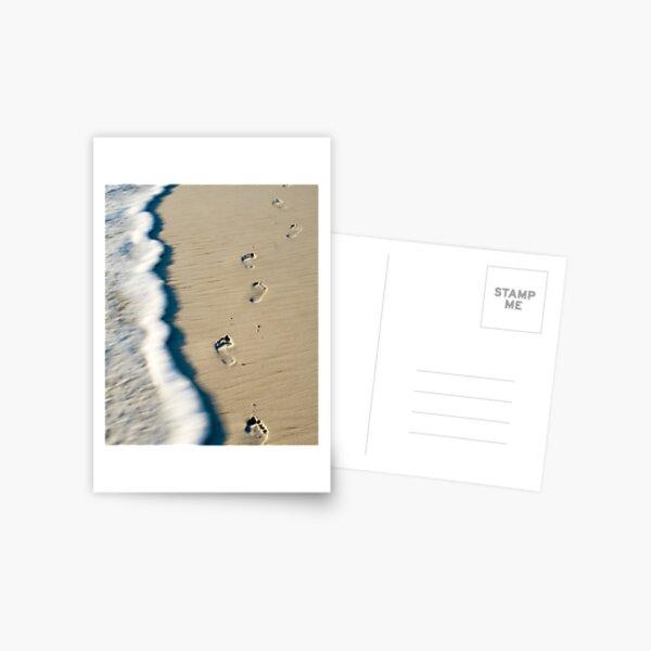 Footsteps on the sands of time Postcard