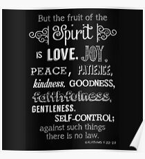 Fruit of the Spirit (Galatians 5:22-23) Poster