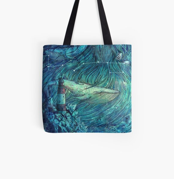 Moonlit Sea All Over Print Tote Bag