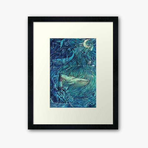 Moonlit Sea Framed Art Print
