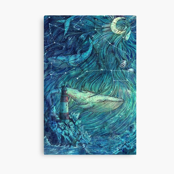 Moonlit Sea Canvas Print