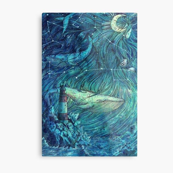 Moonlit Sea Metal Print