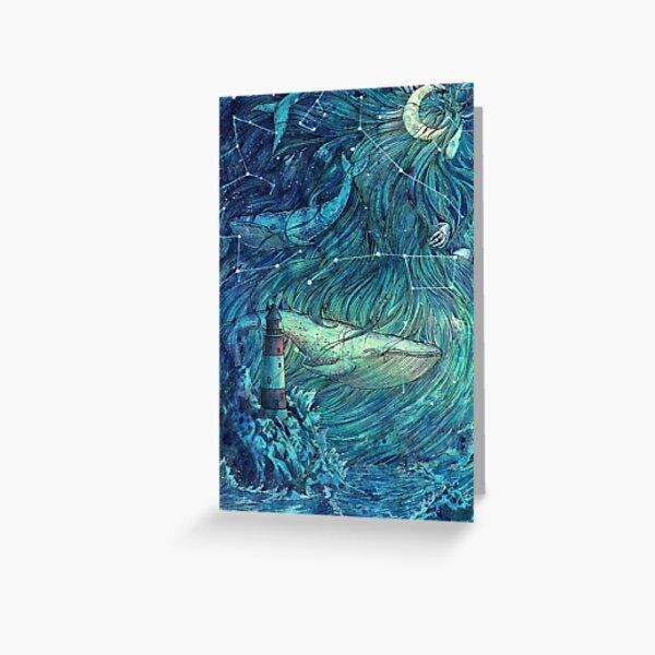 Moonlit Sea Greeting Card
