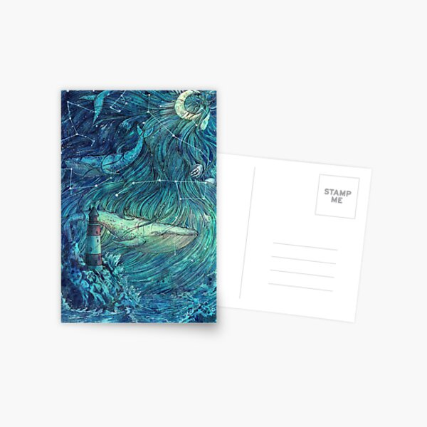 Moonlit Sea Postcard