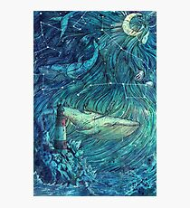 Moonlit Sea Photographic Print