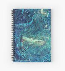 Moonlit Sea Spiral Notebook