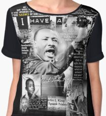 martin luther king jr Chiffon Top