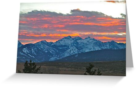 Three Sister Sunset by lindasdreams