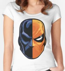 deathstroke - mask (more detail) Women's Fitted Scoop T-Shirt