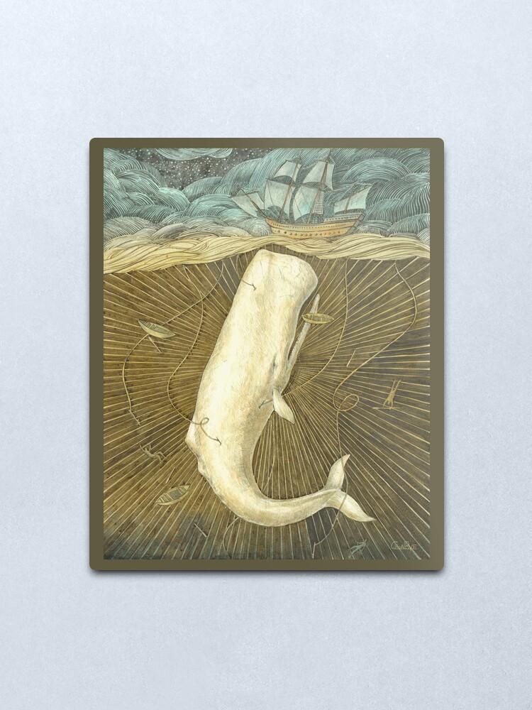 Alternate view of White Whale Metal Print