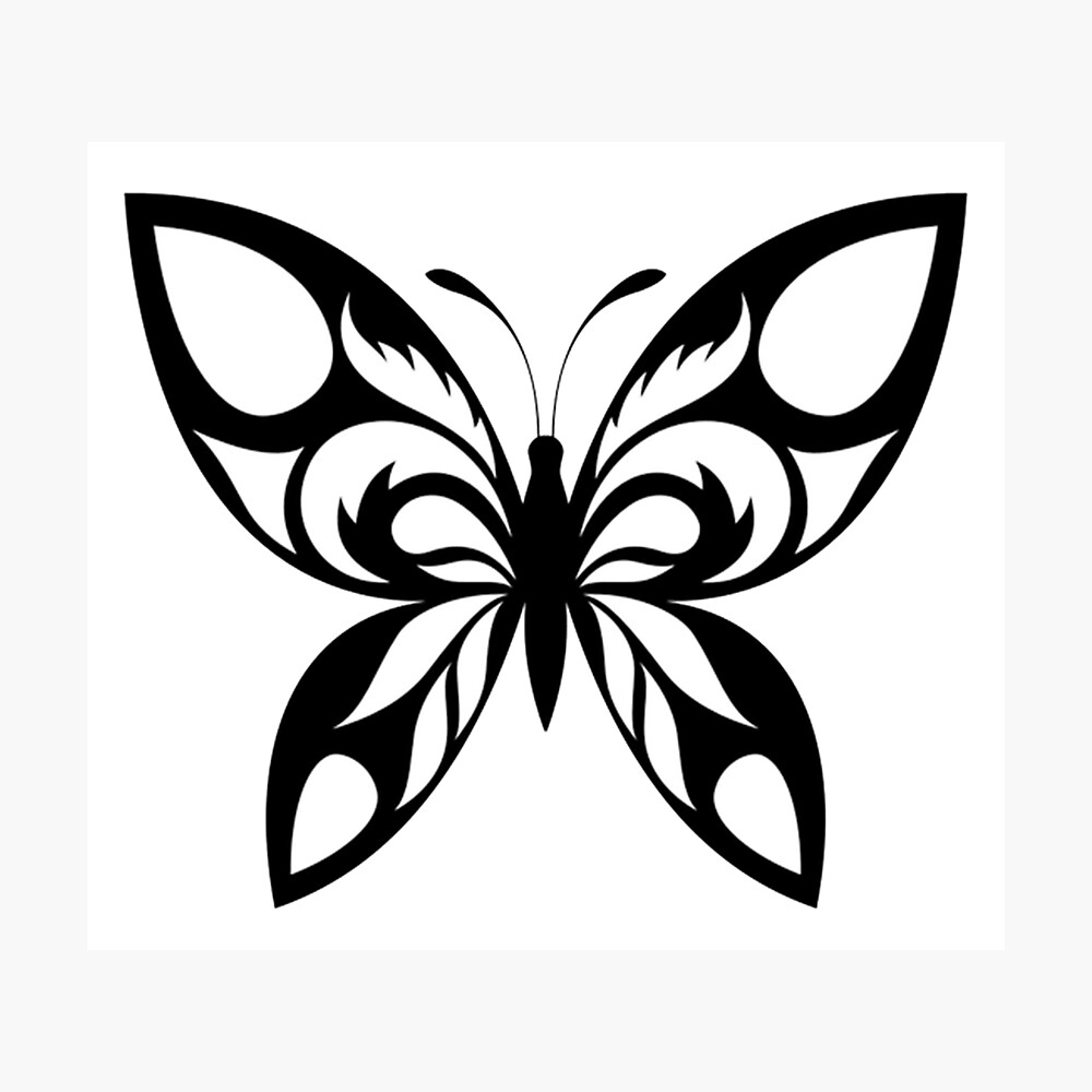 BLUE AND BLACK BUTTERFLY PHOTOGRAPHIC METAL NOVELTY LICENSE PLATE TAG