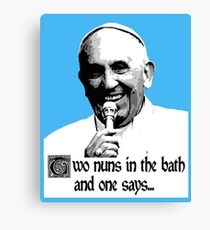 The Pope Cracking a Joke Canvas Print