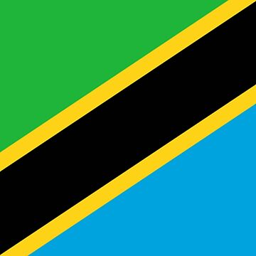 Tanzania, Flag of Tanzania, Tanzanian Flag, African Flags, Africa by TOMSREDBUBBLE