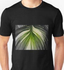 Hosta Leaf In Partial Color  T-Shirt