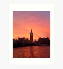 Big Ben - London, United Kingdom Art Print
