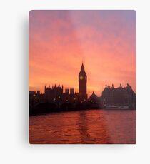 Big Ben - London, United Kingdom Metal Print