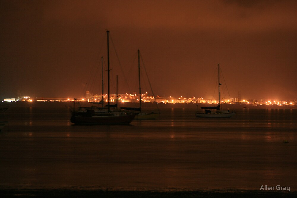 Across the Bay at Night by Allen Gray