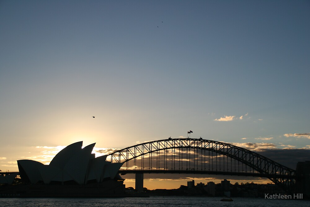 Sydney sunset by Kathleen Hill