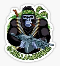 Gorilla with machine gun illustration Sticker