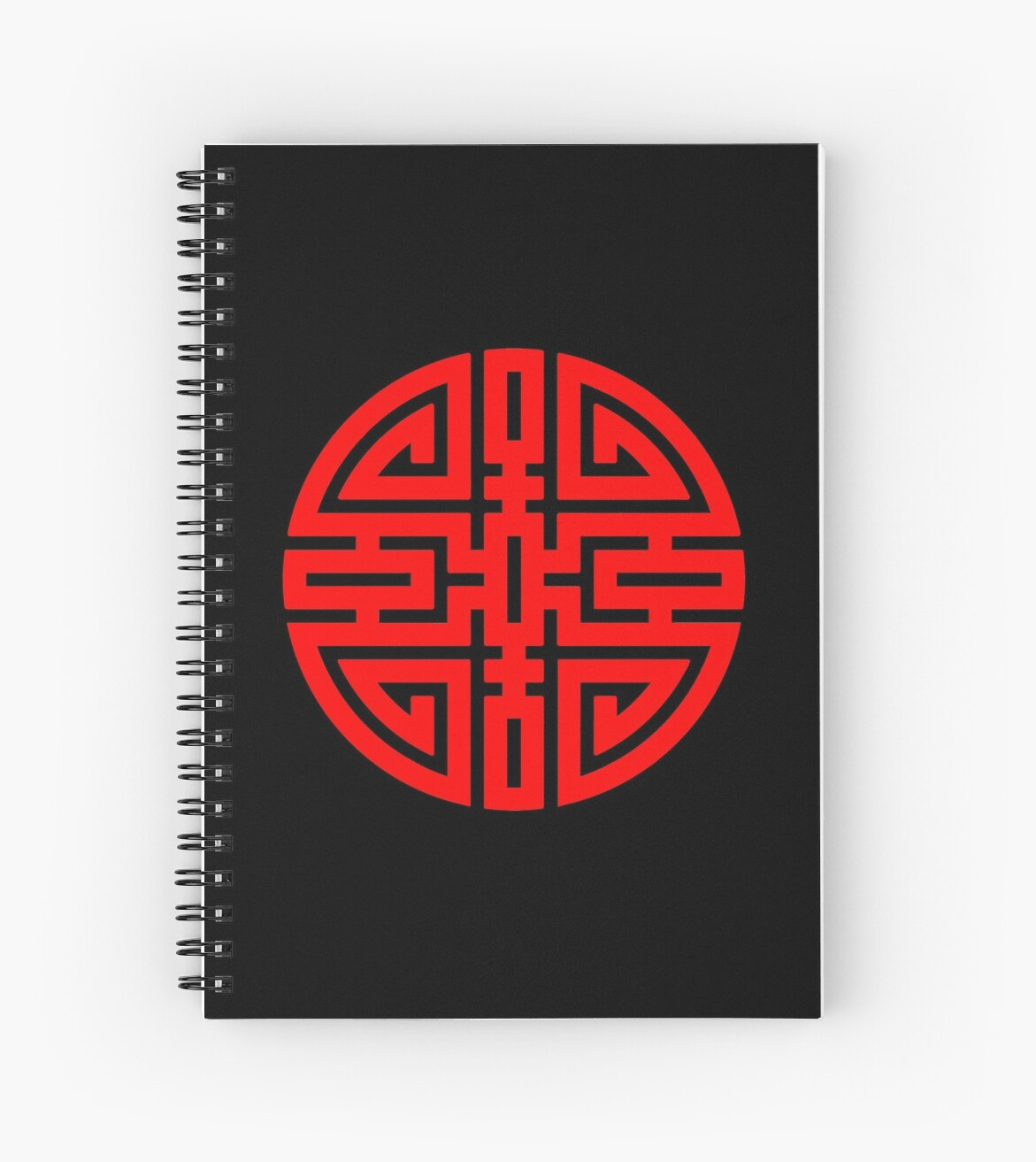 China Chinese Cai Wealth Money Taoist Symbol Spiral Notebooks
